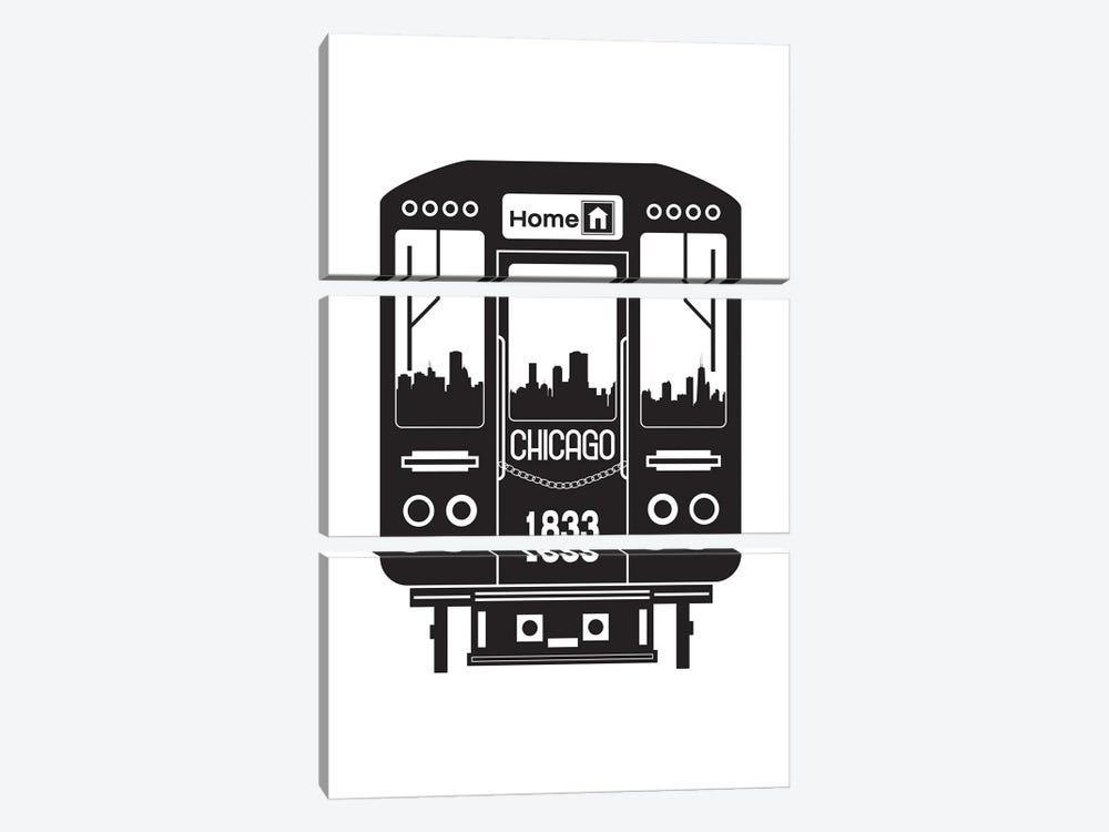 Chicago Train Skyline by Benton Park Prints 3-piece Canvas Art Print