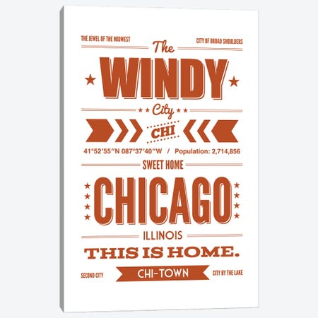 Chicago: This is Home Canvas Print #BPP148} by Benton Park Prints Canvas Art