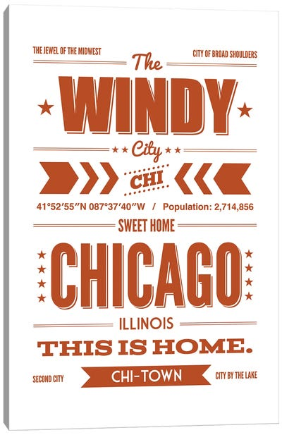 Chicago: This is Home Canvas Art Print