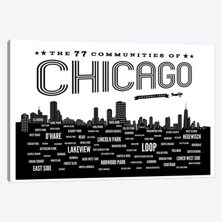 Chicago Communities Canvas Print #BPP150} by Benton Park Prints Art Print