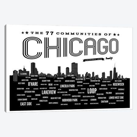 Chicago Communities Canvas Print #BPP150} by Benton Park Prints Art Print
