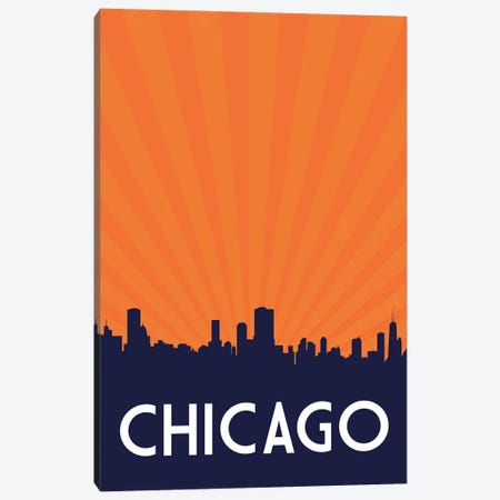 Chicago Skyline Canvas Print #BPP153} by Benton Park Prints Art Print