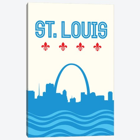 St. Louis Skyline Canvas Print #BPP154} by Benton Park Prints Canvas Art