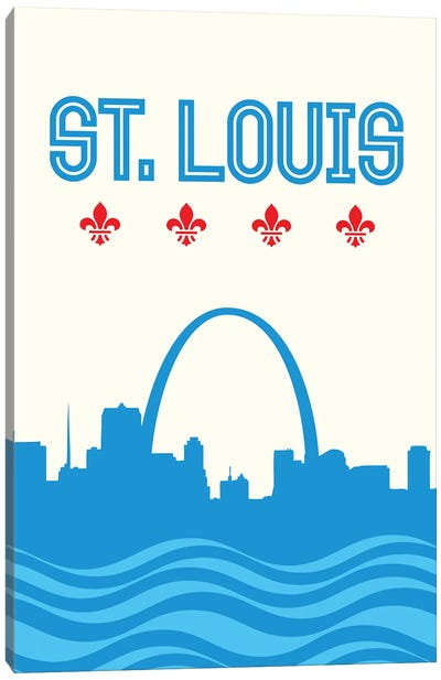 St. Louis Skyline Canvas Art Print