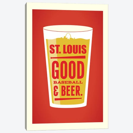 St. Louis: Good Baseball & Beer Canvas Print #BPP155} by Benton Park Prints Canvas Artwork