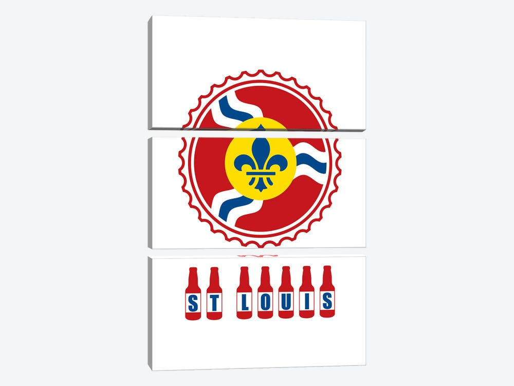 St. Louis Beer Bottles by Benton Park Prints 3-piece Art Print