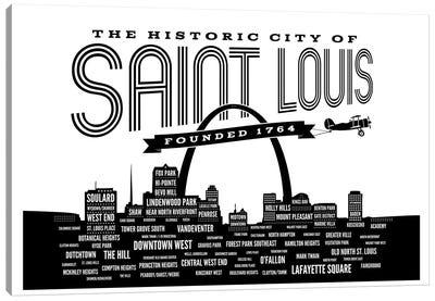 St. Louis Neighborhoods Skyline Canvas Art Print
