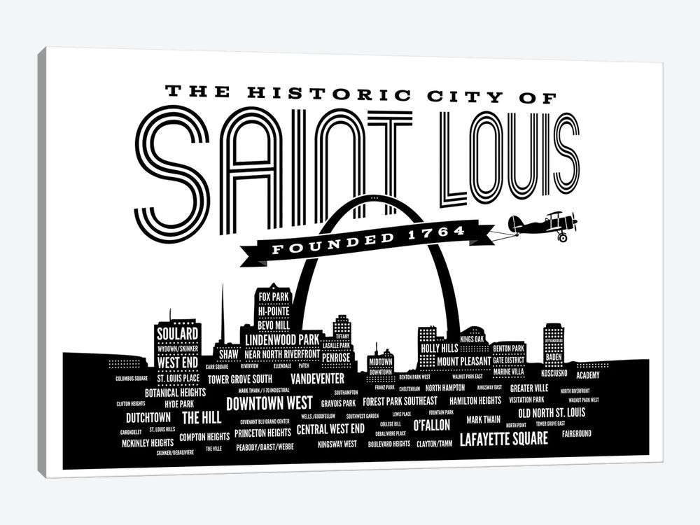 St. Louis Neighborhoods Skyline by Benton Park Prints 1-piece Canvas Art Print