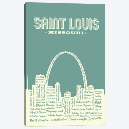 St. Louis Arch Skyline Canvas Print #BPP164} by Benton Park Prints Canvas Art Print