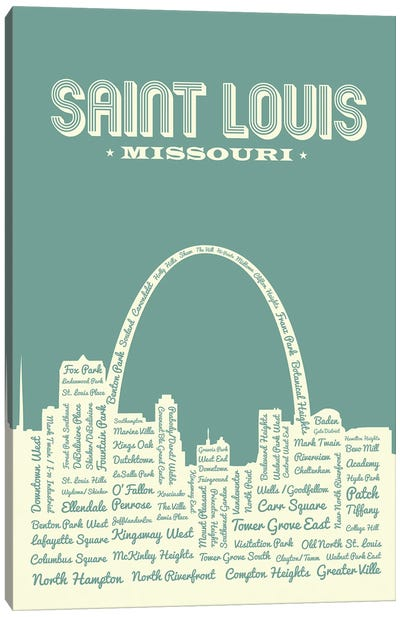 St. Louis Arch Skyline Canvas Art Print