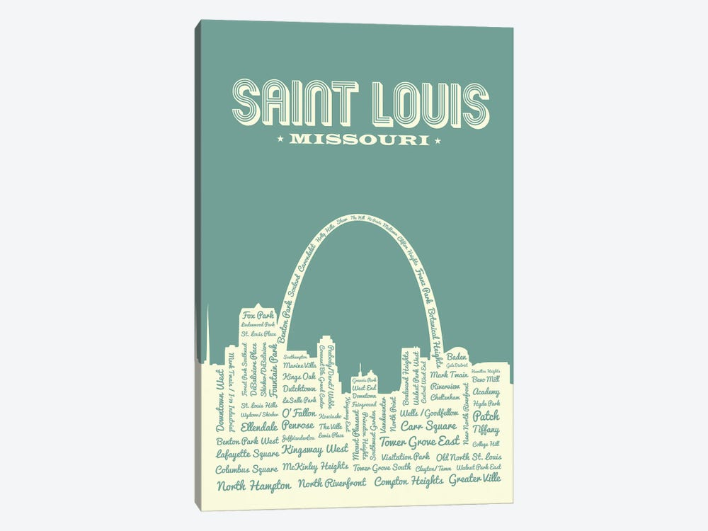 St. Louis Arch Skyline by Benton Park Prints 1-piece Canvas Wall Art