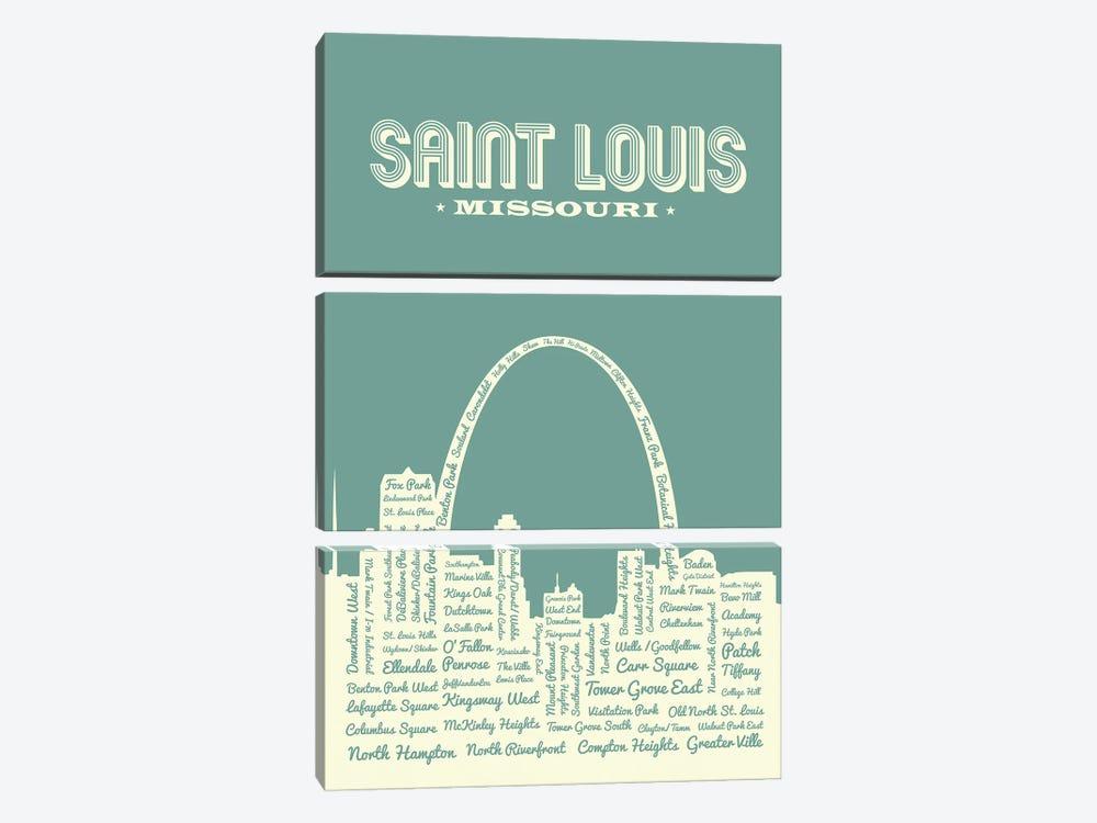 St. Louis Arch Skyline by Benton Park Prints 3-piece Canvas Wall Art