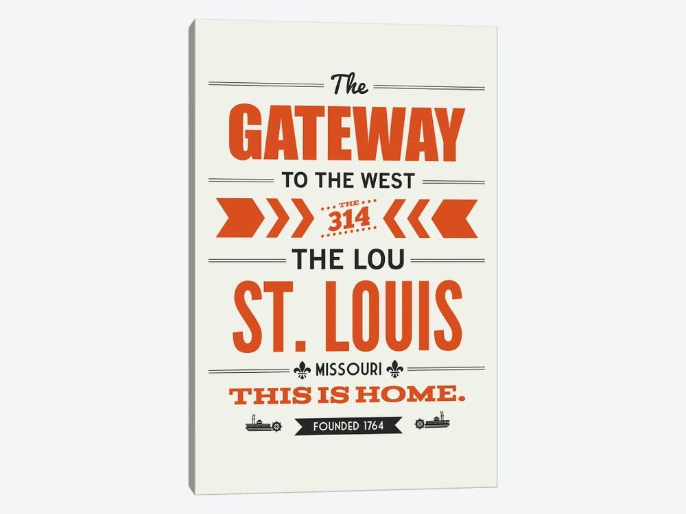 St. Louis: This Is Home by Benton Park Prints 1-piece Canvas Art Print