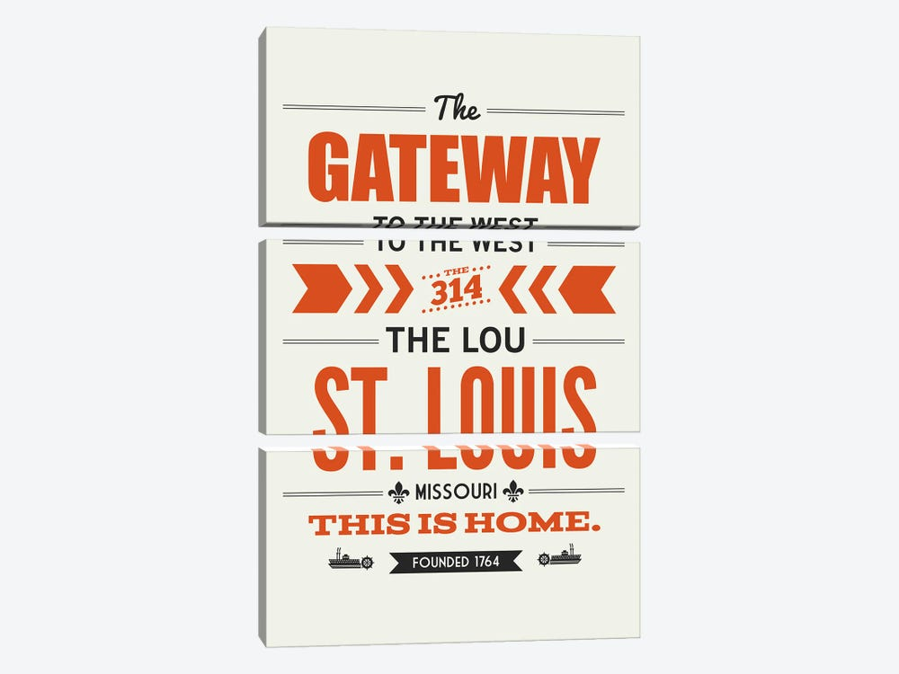 St. Louis: This Is Home by Benton Park Prints 3-piece Canvas Print