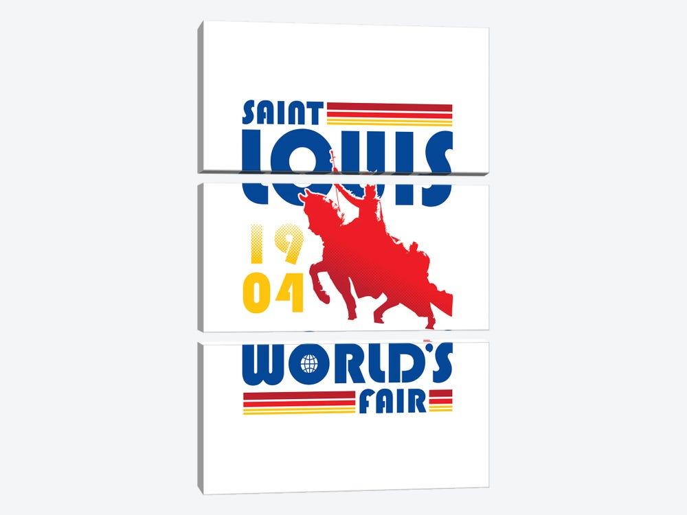 St. Louis World's Fair by Benton Park Prints 3-piece Canvas Print