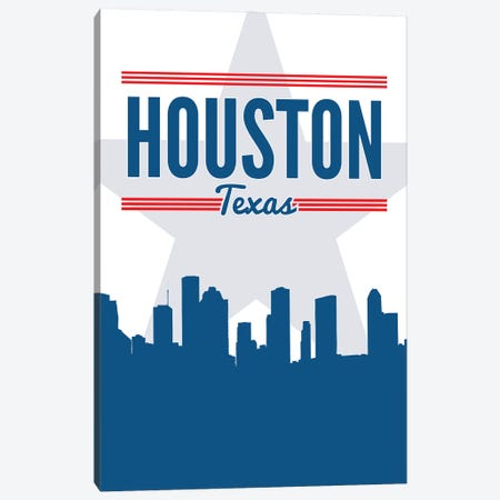 Houston Skyline Canvas Print #BPP170} by Benton Park Prints Art Print