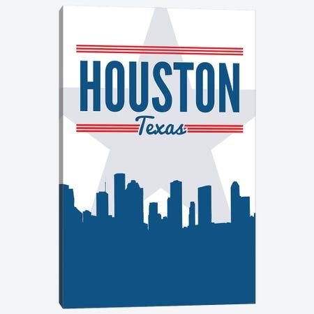 Houston Skyline Canvas Print #BPP170} by Benton Park Prints Art Print