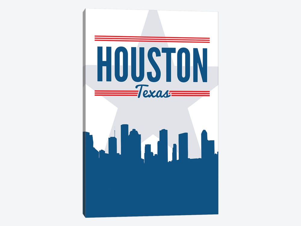 Houston Skyline 1-piece Art Print