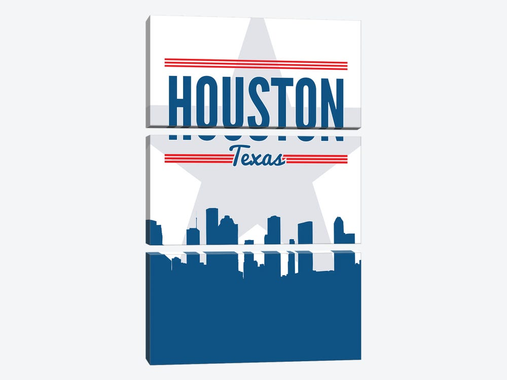 Houston Skyline by Benton Park Prints 3-piece Canvas Print