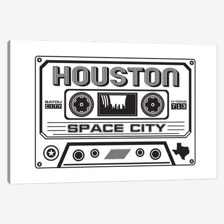 Houston Cassette Canvas Print #BPP171} by Benton Park Prints Canvas Art Print
