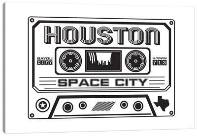 Houston Cassette Canvas Art Print