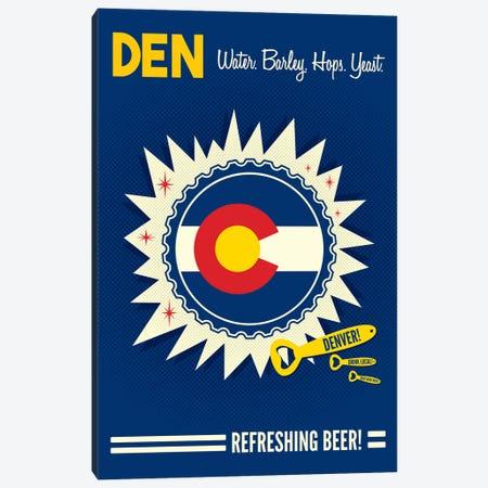 Denver Refreshing Beer Canvas Print #BPP173} by Benton Park Prints Art Print
