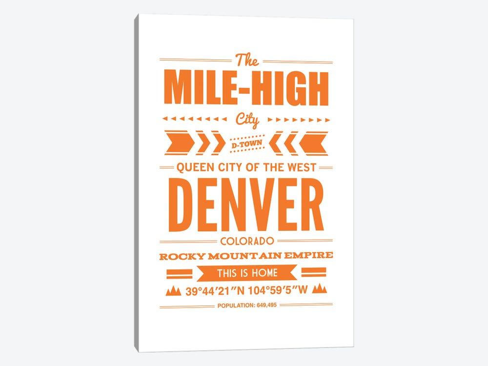 Denver Typography by Benton Park Prints 1-piece Canvas Wall Art