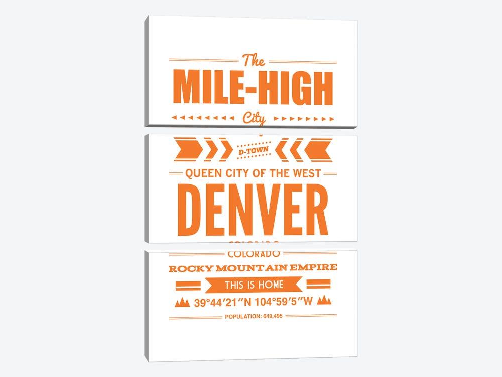 Denver Typography by Benton Park Prints 3-piece Canvas Art