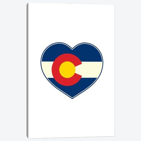 Colorado Flag Heart Canvas Print #BPP177} by Benton Park Prints Canvas Art