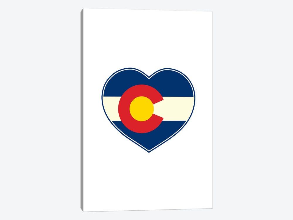 Colorado Flag Heart by Benton Park Prints 1-piece Canvas Wall Art