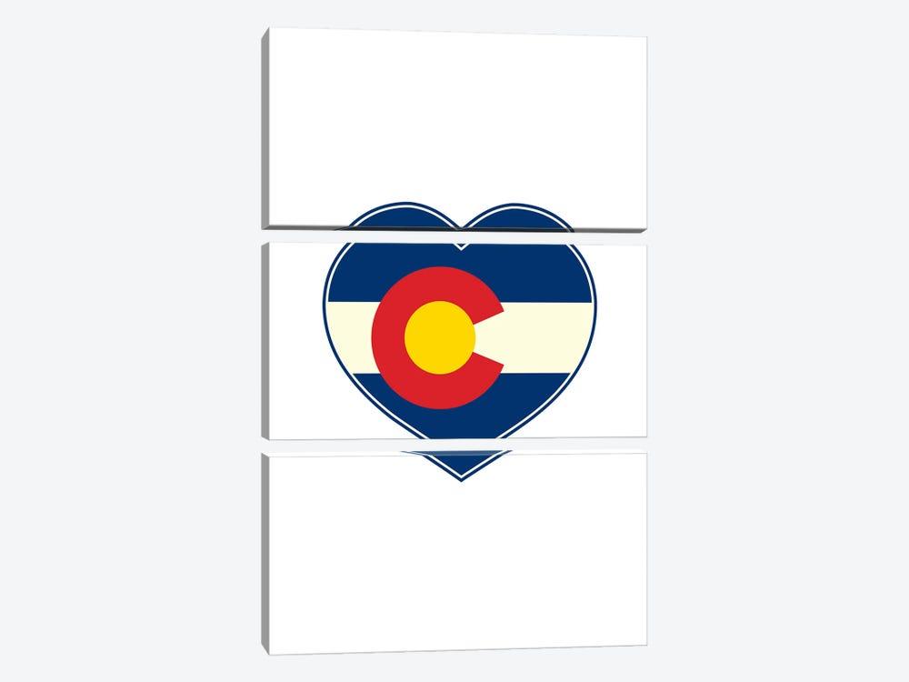 Colorado Flag Heart by Benton Park Prints 3-piece Canvas Wall Art