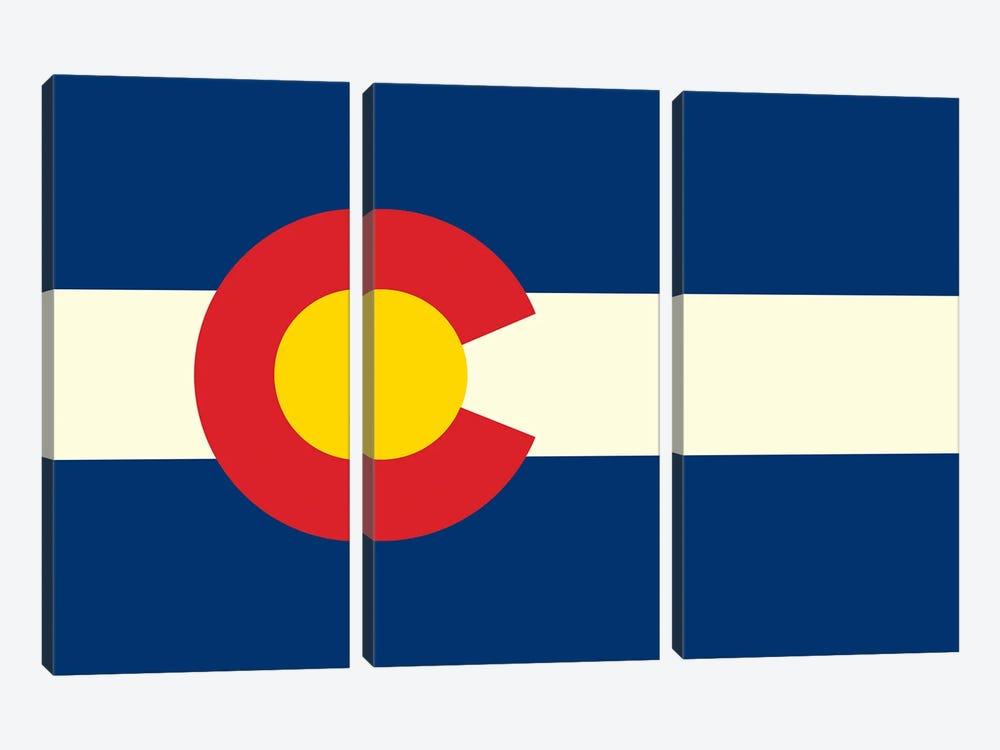 Colorado Flag by Benton Park Prints 3-piece Canvas Artwork