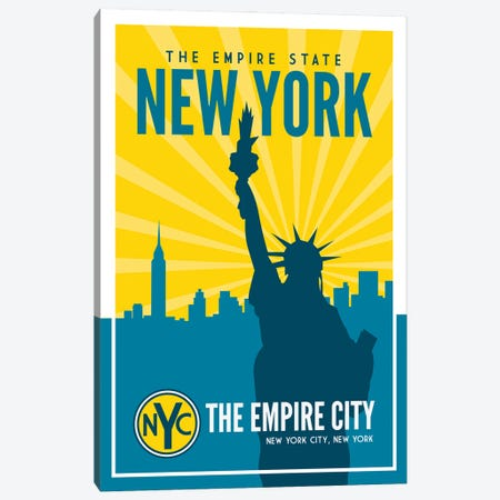 New York Empire State Canvas Print #BPP180} by Benton Park Prints Canvas Wall Art