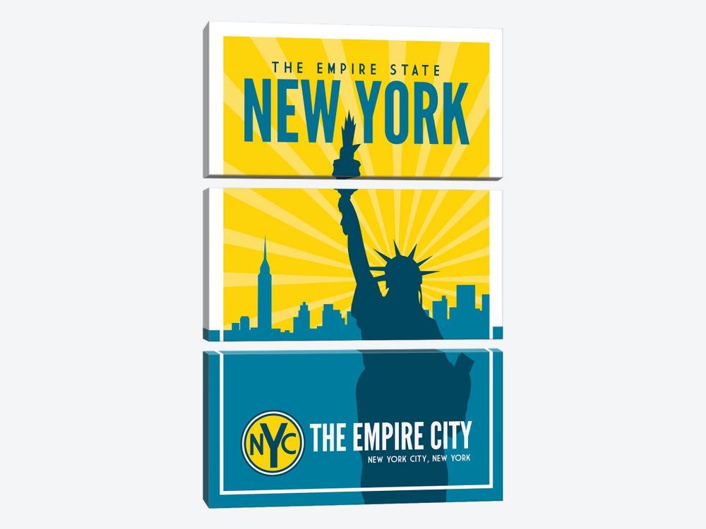 New York Empire State by Benton Park Prints 3-piece Canvas Artwork