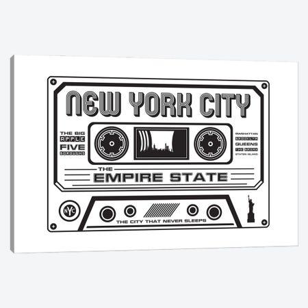 New York City Cassette Canvas Print #BPP181} by Benton Park Prints Canvas Artwork