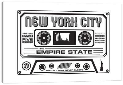 New York City Cassette Canvas Art Print
