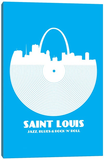 Saint Louis - Jazz, Blues & Rock 'N' Roll Canvas Art Print