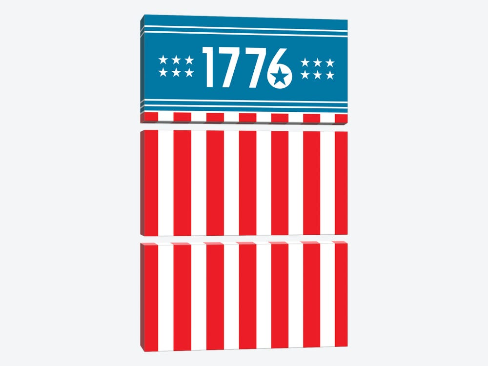 1776 - America by Benton Park Prints 3-piece Canvas Print