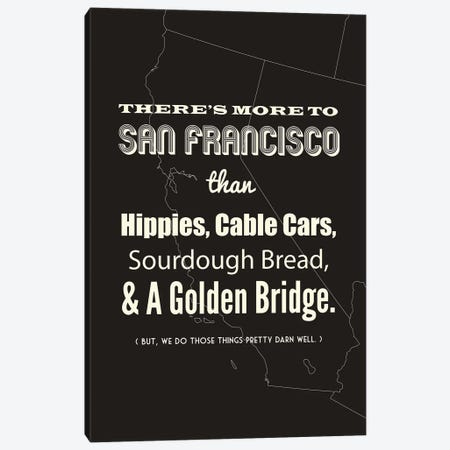 There's More To San Francisco - Dark Canvas Print #BPP188} by Benton Park Prints Canvas Artwork