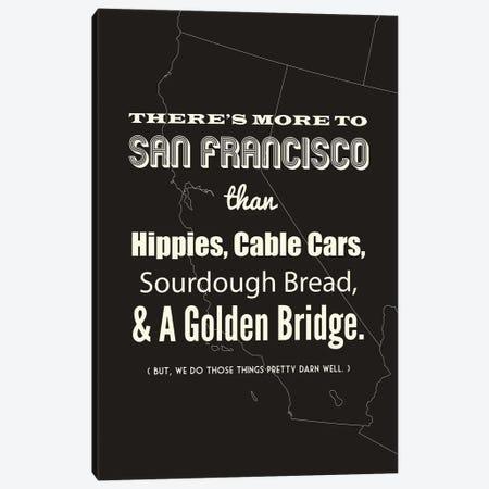 There's More To San Francisco - Dark Canvas Print #BPP188} by Benton Park Prints Canvas Artwork