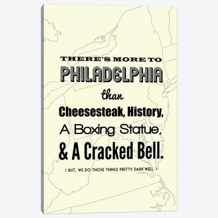 There's More To Philadelphia - Light Canvas Print #BPP190} by Benton Park Prints Canvas Art Print