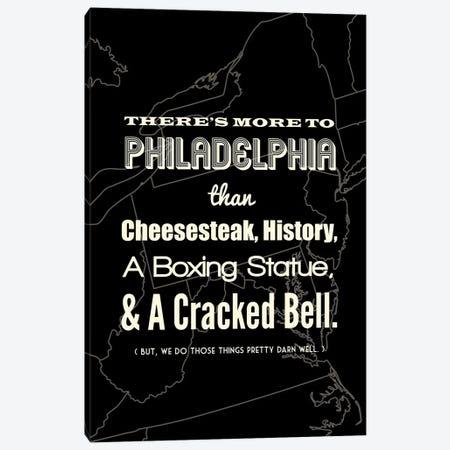 There's More To Philadelphia - Dark Canvas Print #BPP191} by Benton Park Prints Canvas Print