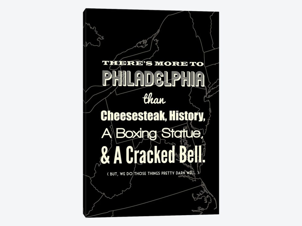 There's More To Philadelphia - Dark by Benton Park Prints 1-piece Canvas Wall Art