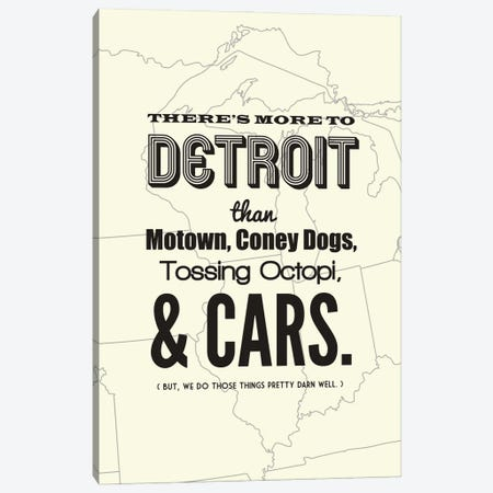 There's More To Detroit - Light Canvas Print #BPP194} by Benton Park Prints Canvas Wall Art