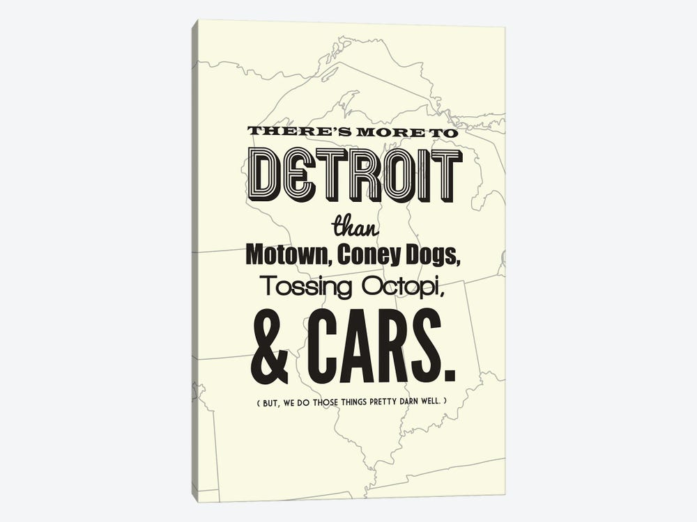 There's More To Detroit - Light 1-piece Canvas Art Print