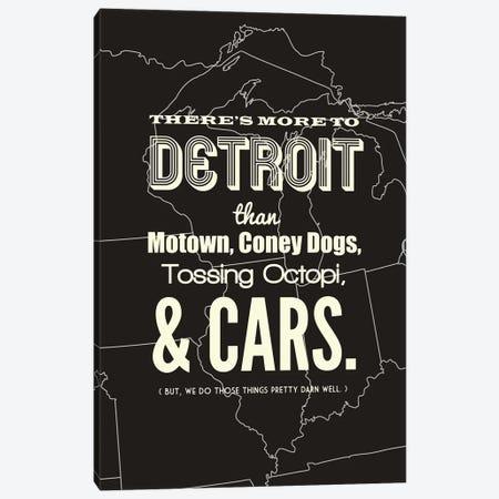There's More To Detroit - Dark Canvas Print #BPP195} by Benton Park Prints Canvas Art