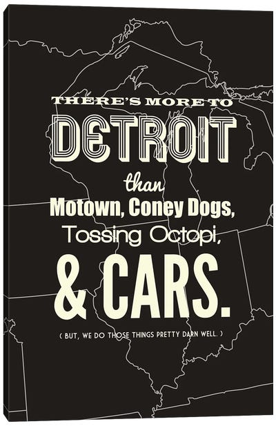 There's More To Detroit - Dark Canvas Art Print