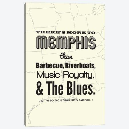 There's More To Memphis - Light Canvas Print #BPP196} by Benton Park Prints Canvas Art