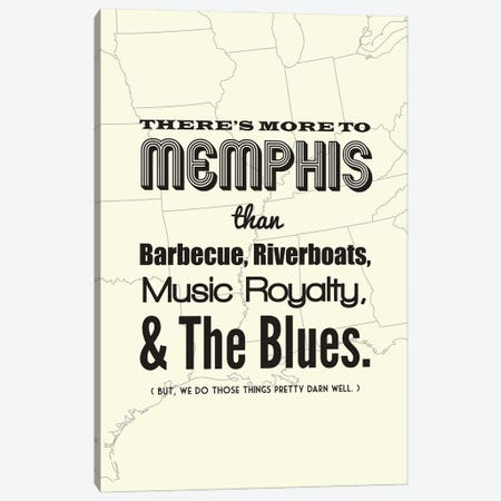 There's More To Memphis - Light Canvas Print #BPP196} by Benton Park Prints Canvas Art