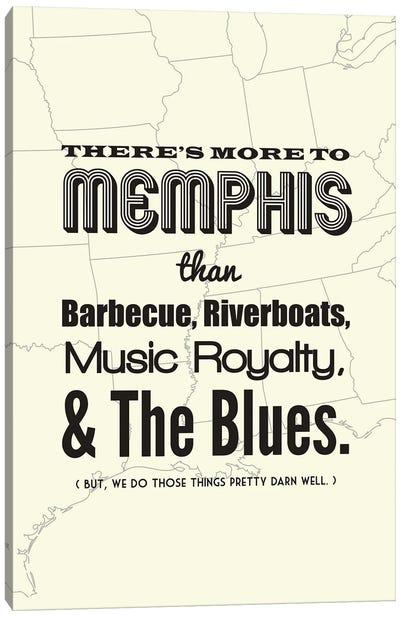 There's More To Memphis - Light Canvas Art Print